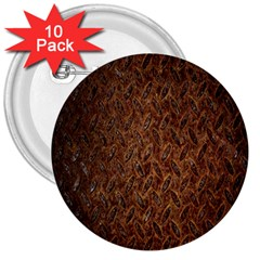 Texture Background Rust Surface Shape 3  Buttons (10 Pack)  by Simbadda