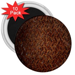 Texture Background Rust Surface Shape 3  Magnets (10 Pack)  by Simbadda
