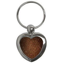 Texture Background Rust Surface Shape Key Chains (heart)