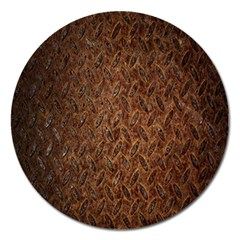 Texture Background Rust Surface Shape Magnet 5  (round) by Simbadda