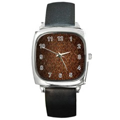 Texture Background Rust Surface Shape Square Metal Watch by Simbadda