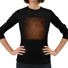 Texture Background Rust Surface Shape Women s Long Sleeve Dark T Shirts by Simbadda