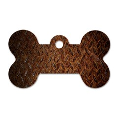 Texture Background Rust Surface Shape Dog Tag Bone (one Side) by Simbadda