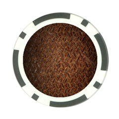 Texture Background Rust Surface Shape Poker Chip Card Guard by Simbadda