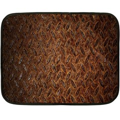 Texture Background Rust Surface Shape Fleece Blanket (mini) by Simbadda
