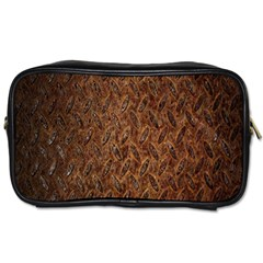 Texture Background Rust Surface Shape Toiletries Bags by Simbadda