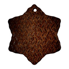 Texture Background Rust Surface Shape Snowflake Ornament (two Sides) by Simbadda