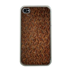 Texture Background Rust Surface Shape Apple Iphone 4 Case (clear) by Simbadda