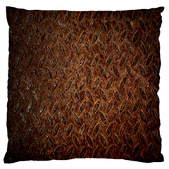 Texture Background Rust Surface Shape Large Cushion Case (one Side) by Simbadda