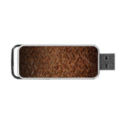 Texture Background Rust Surface Shape Portable Usb Flash (one Side) by Simbadda