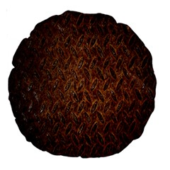 Texture Background Rust Surface Shape Large 18  Premium Round Cushions by Simbadda