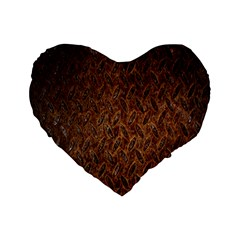 Texture Background Rust Surface Shape Standard 16  Premium Heart Shape Cushions by Simbadda