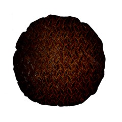 Texture Background Rust Surface Shape Standard 15  Premium Flano Round Cushions by Simbadda
