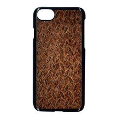 Texture Background Rust Surface Shape Apple Iphone 7 Seamless Case (black) by Simbadda