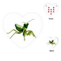Mantis Playing Cards (heart)  by Valentinaart
