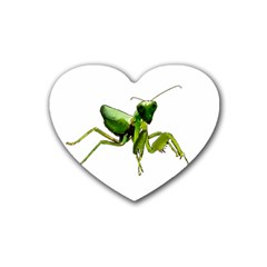 Mantis Rubber Coaster (heart)  by Valentinaart