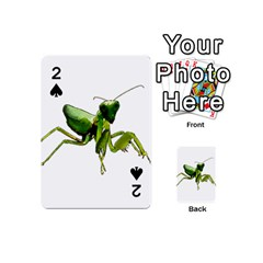 Mantis Playing Cards 54 (mini)  by Valentinaart