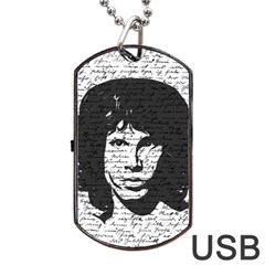 Morrison Dog Tag Usb Flash (two Sides) by Valentinaart