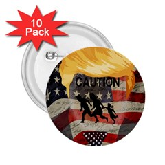 Caution 2 25  Buttons (10 Pack)  by Valentinaart