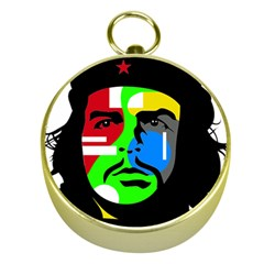 Che Guevara Gold Compasses by Valentinaart