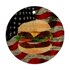 Hamburger Ornament (round) by Valentinaart