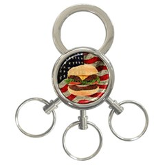 Hamburger 3 Ring Key Chains by Valentinaart