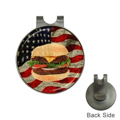 Hamburger Hat Clips With Golf Markers by Valentinaart