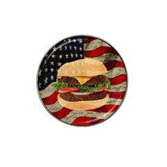 Hamburger Hat Clip Ball Marker (4 Pack) by Valentinaart