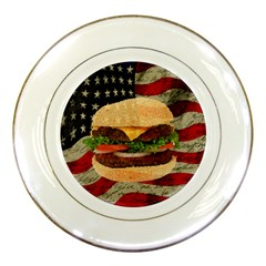 Hamburger Porcelain Plates by Valentinaart