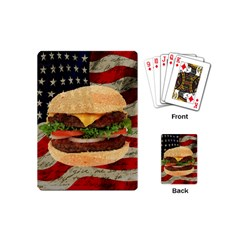 Hamburger Playing Cards (mini)  by Valentinaart