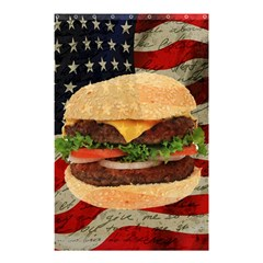 Hamburger Shower Curtain 48  X 72  (small)  by Valentinaart