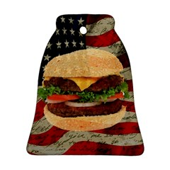 Hamburger Bell Ornament (two Sides) by Valentinaart