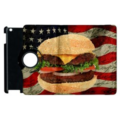 Hamburger Apple Ipad 2 Flip 360 Case by Valentinaart