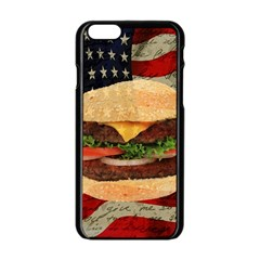 Hamburger Apple Iphone 6/6s Black Enamel Case