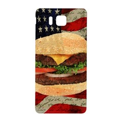 Hamburger Samsung Galaxy Alpha Hardshell Back Case by Valentinaart