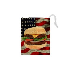 Hamburger Drawstring Pouches (xs)  by Valentinaart