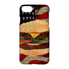Hamburger Apple Iphone 7 Hardshell Case by Valentinaart