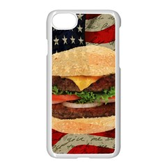 Hamburger Apple Iphone 7 Seamless Case (white) by Valentinaart