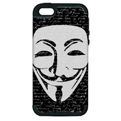 Antonymous   Apple Iphone 5 Hardshell Case (pc+silicone) by Valentinaart