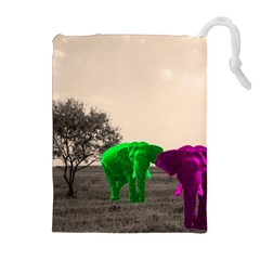 Africa  Drawstring Pouches (extra Large) by Valentinaart