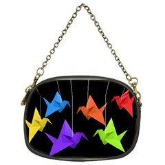 Paper Cranes Chain Purses (two Sides)  by Valentinaart