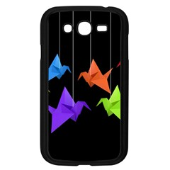 Paper Cranes Samsung Galaxy Grand Duos I9082 Case (black) by Valentinaart