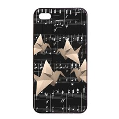 Paper Cranes Apple Iphone 4/4s Seamless Case (black) by Valentinaart