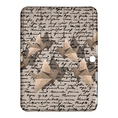 Paper Cranes Samsung Galaxy Tab 4 (10 1 ) Hardshell Case  by Valentinaart