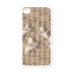 Paper Cranes Apple Iphone 4 Case (white) by Valentinaart