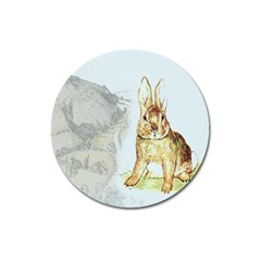 Rabbit  Magnet 3  (round) by Valentinaart