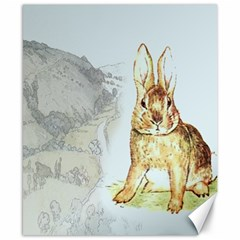 Rabbit  Canvas 8  X 10  by Valentinaart