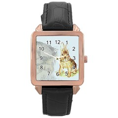 Rabbit  Rose Gold Leather Watch