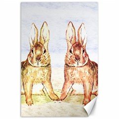 Rabbits  Canvas 24  X 36  by Valentinaart