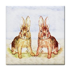 Rabbits  Face Towel by Valentinaart